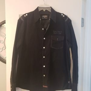 Fender by Rock &Roll Religion black shirt size L